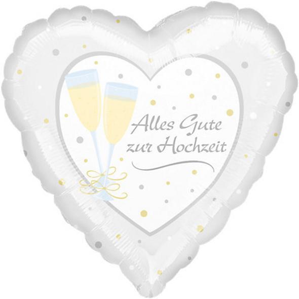 "Folienballon ""Alles Gute zur Hochzeit"""