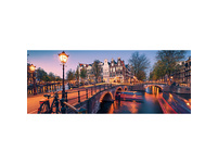 Panorama-Puzzle Abend in Amsterdam, 1.000 Teile