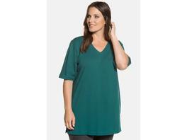 T-Shirt, V-Ausschnitt, Relaxed, Halbarm, Baumwolle