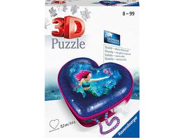 3D-Puzzle Herzschatulle - Bezaubernde Meerjungfrauen, 54 Teile