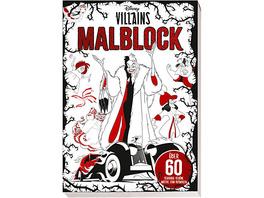 Disney Villains: Malblock: über 60 schaurig-schöne Motive zum Ausmalen