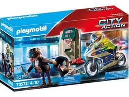 PLAYMOBIL® 70572 Polizei-Motorrad: Verfolgung des Geldräubers
